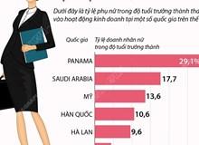 tỷ lệ nữ doanh nhân tại một số quốc gia