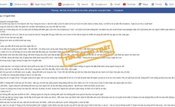 Tin giả về tự điều trị Covid-19 tại nhà lan truyền trên mạng xã hội