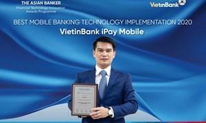 VietinBank iPay Mobile đạt giải ứng dụng công nghệ ngân hàng tốt bậc nhất do The Asian Banker trao tặng