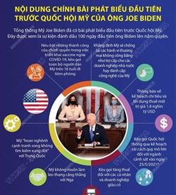 nội dung chính bài phát biểu đầu tiên trước quốc hội mỹ của ông joe biden