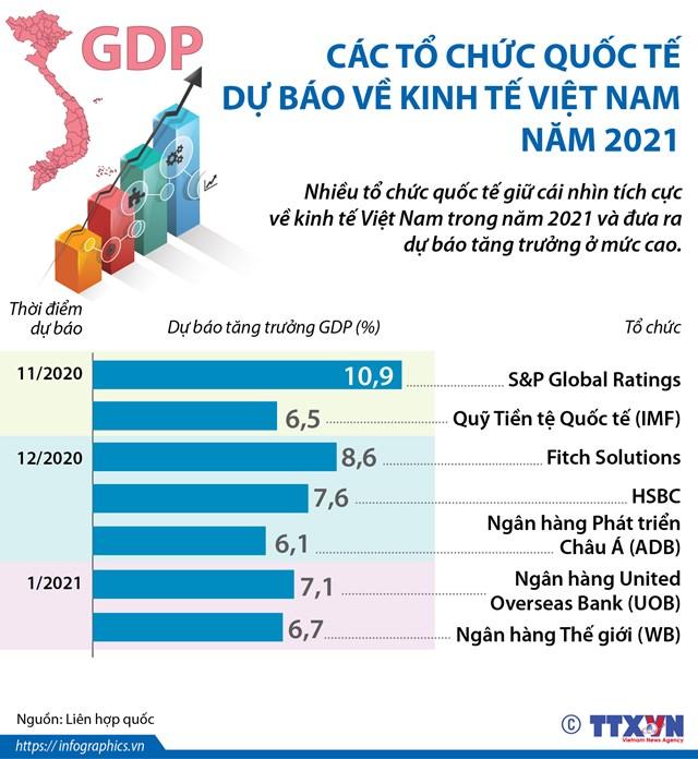Các tổ chức quốc tế dự báo về kinh tế Việt Nam năm 2021 - Ảnh 1
