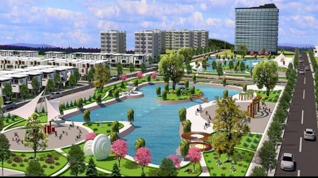 Phối cảnh dự án Canary City Thái Nguyên dù chưa được cấp đất nhưng vẫn rao bán rầm rộ