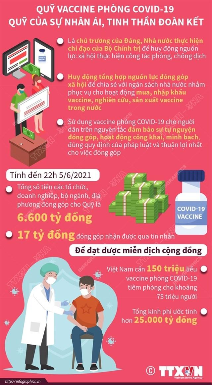 quỹ vaccine phòng covid-19 quỹ của sự nhân ái, tinh thần đoàn kết - Ảnh 1