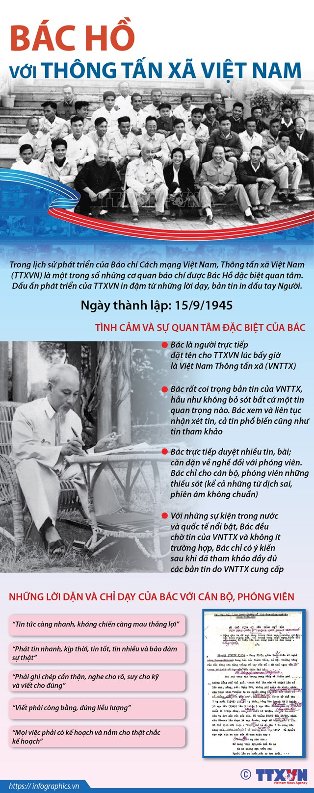 Bác Hồ với Thông tấn xã Việt Nam - Ảnh 1