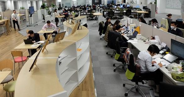 Nhân viên Công ty FPT Software tại Nhật Bản triển khai dự án cho khách hàng - Ảnh: VÂN ANH