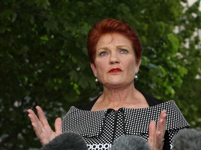 Chính trị gia Australia Pauline Hanson (Ảnh: Telegraph)